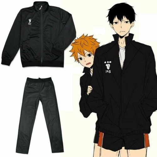Haikyuu! Karasuno High School Coat Jacket Trousers Cosplay Costume Sportswear