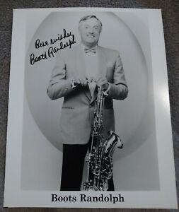 Boots Randolph signed 8X10 photo Yakety Sax Benny Hill Theme Song d. 2007
