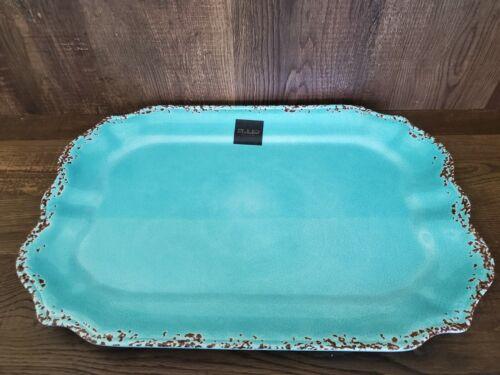 Il Mulino Turquoise MELAMINE Extra Large Serving Tray Platter