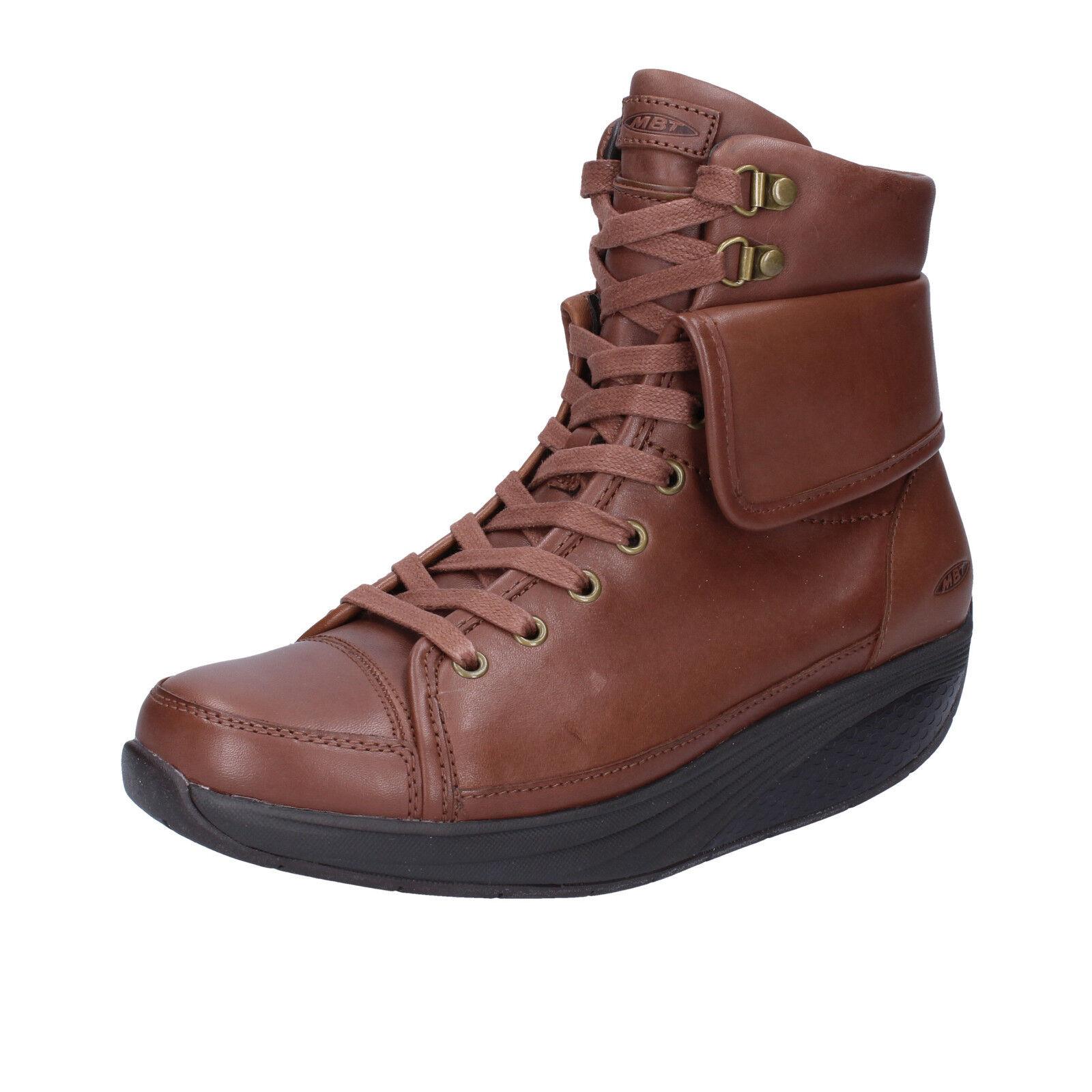 Para mujeres Zapatos MBT 6 6,5 (UE 37) botas botas botas al Tobillo Cuero Marrón BT205-37  entrega rápida