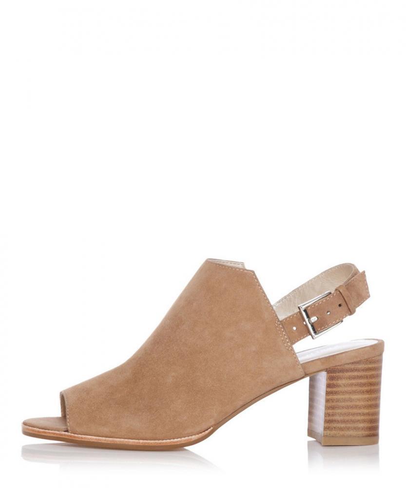 Karen Millen shoes Sandals Tan Suede Sz 7uk