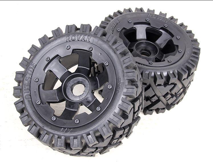 Rear All Terrain wheels set Fit 1/5 HPI Baja 5B