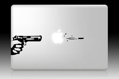 """Gun Art  Decal Sticker For MacBook Air Pro Retina 11"""" 13"""" 15"""" 17"""""""