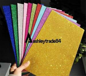 Details about 10PCS Adhesive Glitter Scrapbooking Paper Vinyl Sticker Art  Sheets DIY Craft NEW