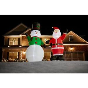 image is loading christmas giant 9 ft snowman inflatable airblown blow
