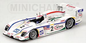 Audi R8 n ° 2 Le Mans 2004 1:43 Modèle 400041302 Minichamps