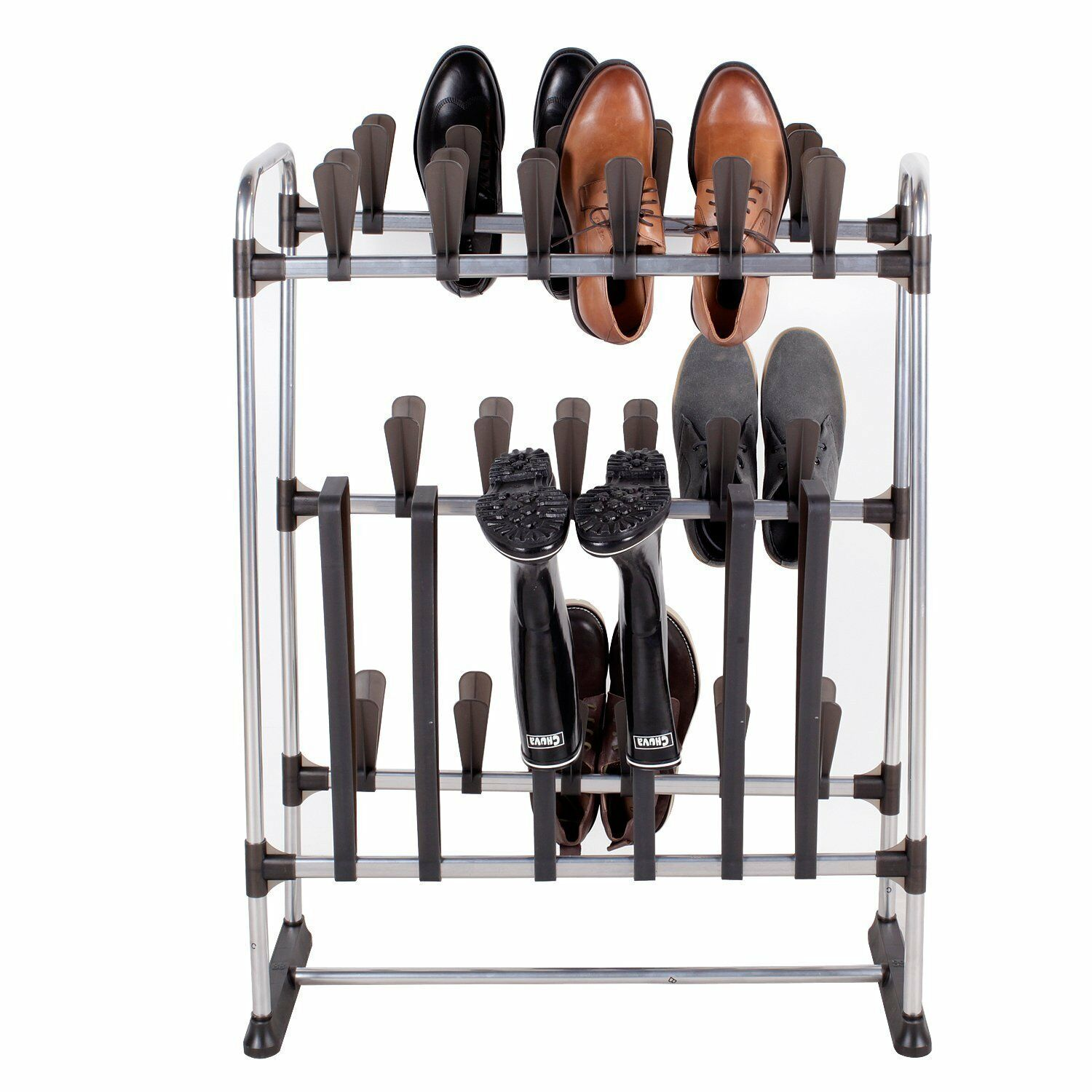 space saving standing shoe rack for 24 pairs of shoes and 3 pairs of boots ebay. Black Bedroom Furniture Sets. Home Design Ideas