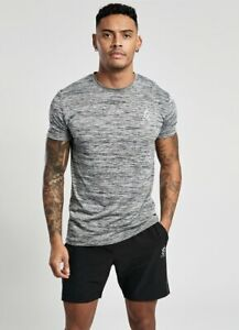 Gym-King-Mens-New-Short-Sleeve-Crew-Neck-T-Shirt-Sport-Grindle-Tee-Grey