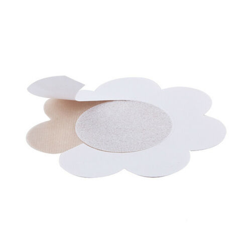20 Satin Self Adhesive Breast Petal Nipple Cover Sticker Bra Pad Flower Nude