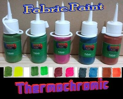 Heat reactive colour change Thermochromic FABRIC Paint - Choose a colour