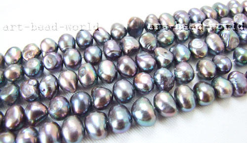 Baroque freshwater pearl loose beads variations color size genuine Natural