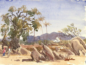 Roy-Pettit-b-1935-20th-Century-Watercolour-Desert-Landscape