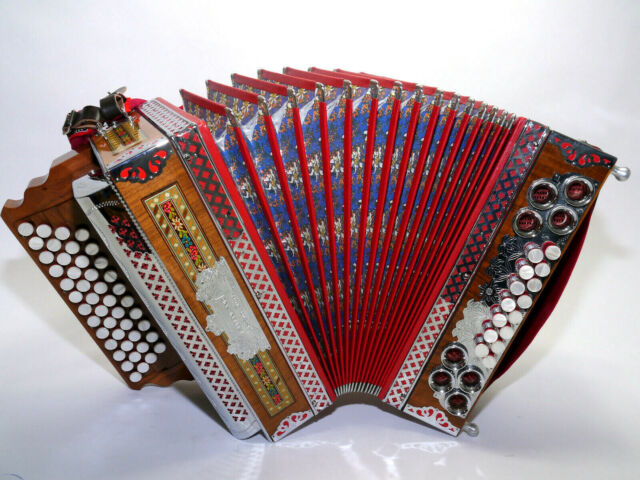 Steirische Harmonika Harmonikakoffer Alpen Schwarz für 4-reihige Harmonika