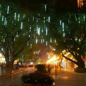 192-LED-Solar-Lights-Meteor-Shower-Rain-8-Tube-Tree-Outdoor-Light-Garden-Party