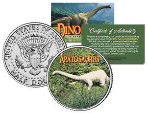 APATOSAURUS-Collectible-Dinosaur-JFK-Half-Dollar-Colorized-Coin-BRONTOSAURUS