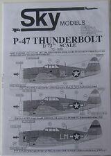 Skymodels 1/72 72050  P-47 Thunderbolt decal set