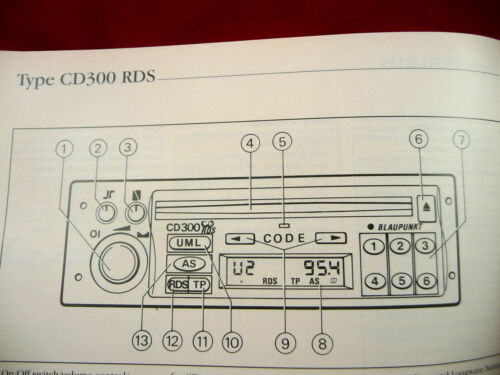 Owner & Operator Manuals Vauxhall Audio CD 300 RDS PHILIPS manual ...