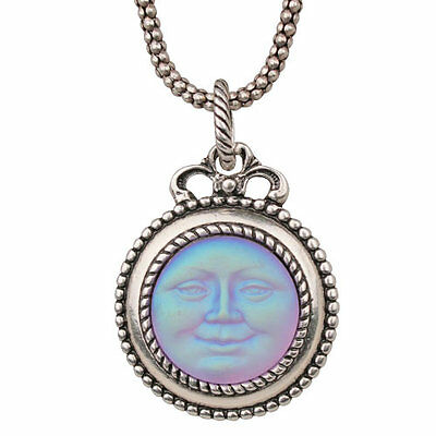 NEW KIRKS FOLLY FACE OFF SEAVIEW MOON NECKLACE  SILVERTONE