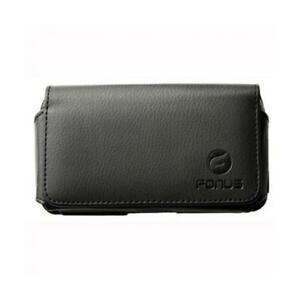 BLACK-LEATHER-PHONE-CASE-COVER-POUCH-SWIVEL-BELT-CLIP-F2J-for-SMARTPHONES