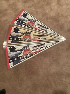 Lot-of-3-1997-ALL-STAR-GAME-Cleveland-Indians-Jacobs-Field-MLB-Pennant-30-034