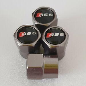 AUDI-RS5-CANNA-DI-FUCILE-Ruota-della-valvola-Polvere-Tappi-tutti-i-modelli-S-LINE-S-Line-TT-RS-5