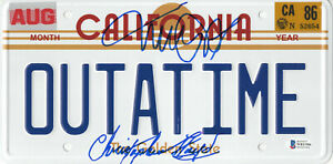 MICHAEL-J-FOX-CHRISTOPHER-LLOYD-BACK-TO-THE-FUTURE-SIGNED-LICENSE-PLATE-BAS-6