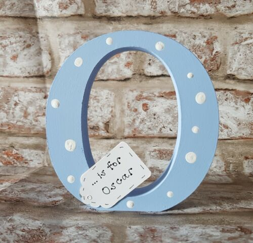 Personalised Handmade letter Christening Gifts for baby boy or baby girl