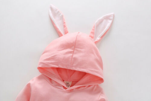 UK Toddler Baby Girls Boy Cartoon Long Sleeve Hooded Romper Jumpsuit Outfits AB