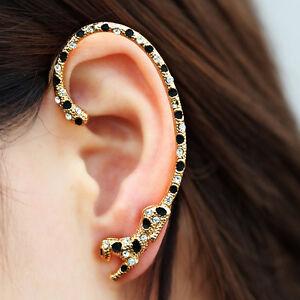 Image Is Loading Fashion Jewelry Crystal Clip Ear Cuff Stud Women