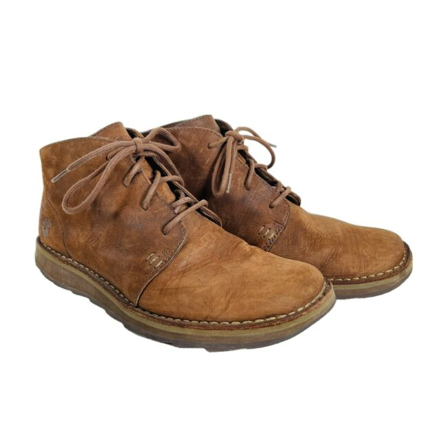 Mens Timberland 34367 8822 Brown Leather Lace Up Boots 10 M