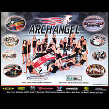 Arch Angel Road Racing Team Poster Jeff Clinton Race Car Bud Girls Budweiser