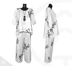 CHALONA Damen Bluse – Hose LAGENLOOK *Made in Germany Uni. Grösse 42-48