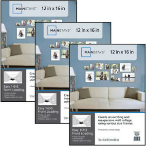 Set-of-3-12x16-Format-Picture-Frame-Photo-Family-Gallery-Office-Decor-wall-NEW