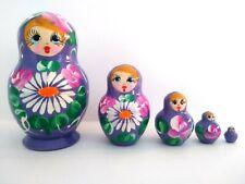 Lot of 5 Hand Painted Russian Nesting Doll MATRYOSHKA Souvenir Fridge Magnets
