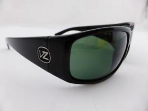 5feb00727b Image is loading Von-Zipper-PALOOKA-Sunglasses-Black-Gloss-Vintage-Grey-