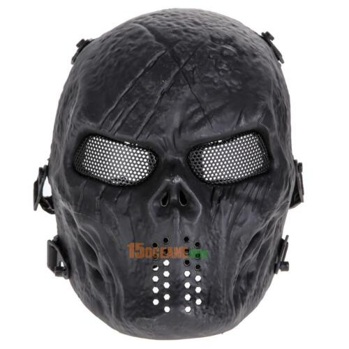 Airsoft Paintball Tactical Full Face Protection Skull Mask Holloween Christmas