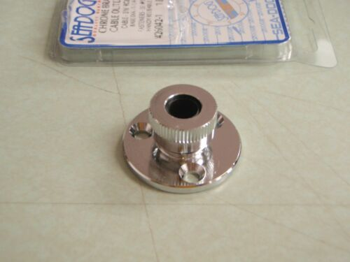 CHROME PLATED CABLE OUTLET SEADOG 4260421 BRASS  BOATINGMALL STORE PARTS NEW