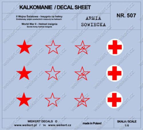 1:6 Abzeichen auf Sowjetische Helme DECALS