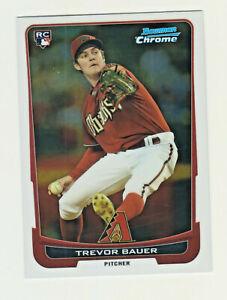 2012-Bowman-Chrome-173-TREVOR-BAUER-RC-Rookie-Cincinnati-Reds