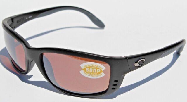 8c6e245184e60 COSTA DEL MAR Zane 580 POLARIZED Sunglasses Black Silver Mirror 580P NEW   179