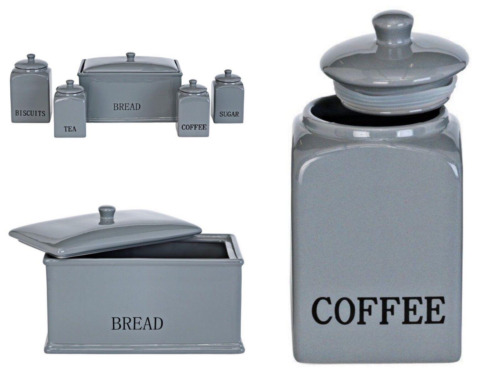 5Pc il pane in ceramica porcellana biscuit Tè Zucchero Caffè Barattolo Di Stoccaggio Contenitore Set
