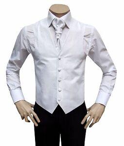 2019 Nouveau Style Gilet De Mariage Avec Plastron Et Plastron Taille 44 Blanc-afficher Le Titre D'origine Forte RéSistance à La Chaleur Et à L'Usure