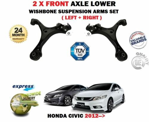 FOR HONDA CIVIC 2012-/> 2X FRONT LEFT RIGHT LOWER WISHBONE SUSPENSION ARMS SET