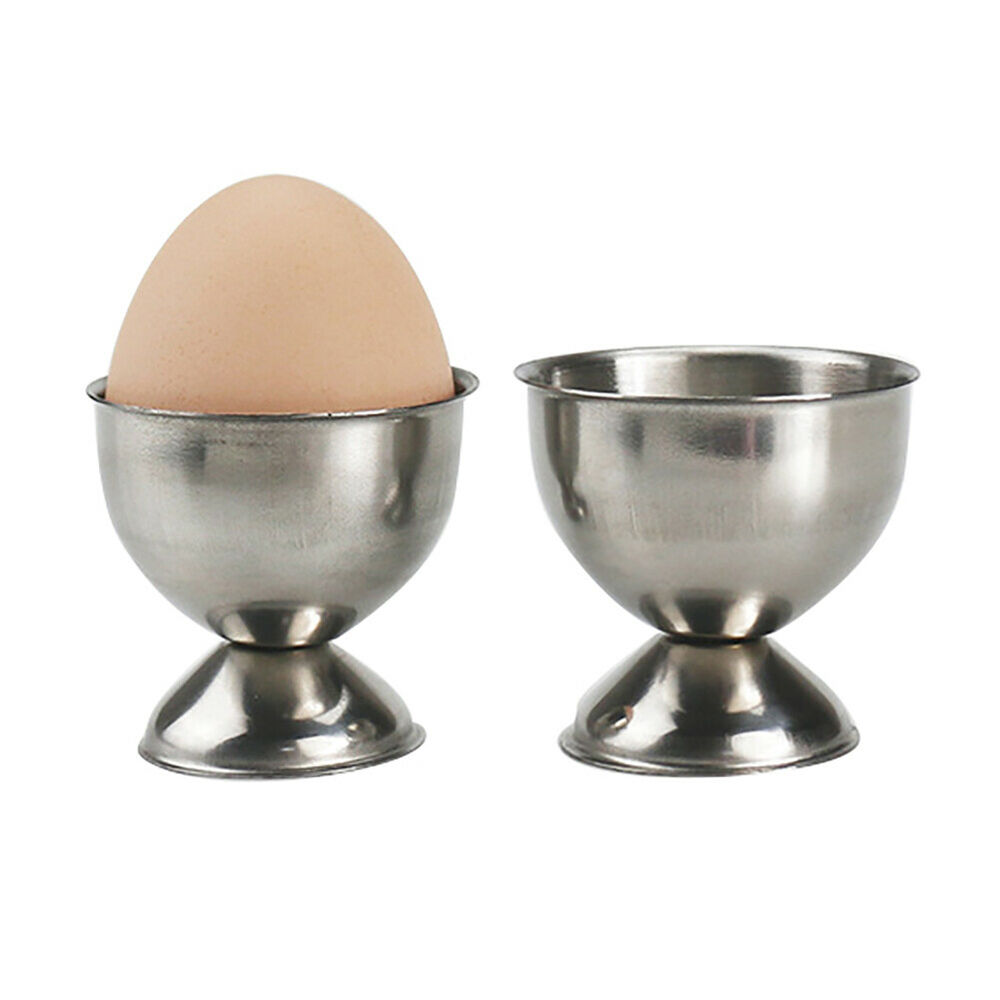 FT- Stainless Steel Egg Storage Cup Box Eggs Holder Egg Boiled Stand Cups Call Collectibles