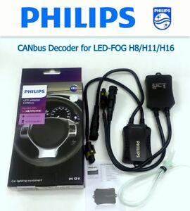 Details about PHILIPS LED CANbus Adapter for LED FOG H8 H11 H16 Error  Canceler Decoder x2 #UKG