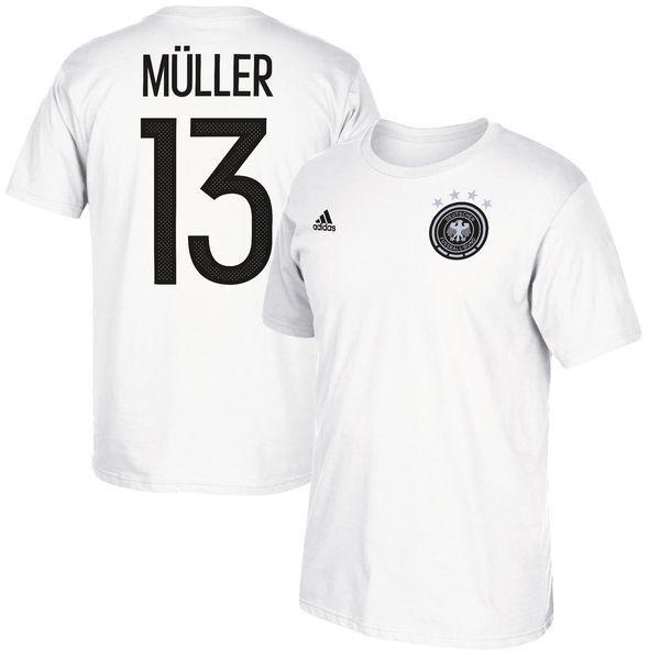 Adidas Germany Muller 2017 Confederation Hero  Soccer Shirt Brand New White