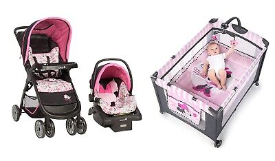 Disney Baby Stroller with Car Seat Minnie Mouse Deluxe ...