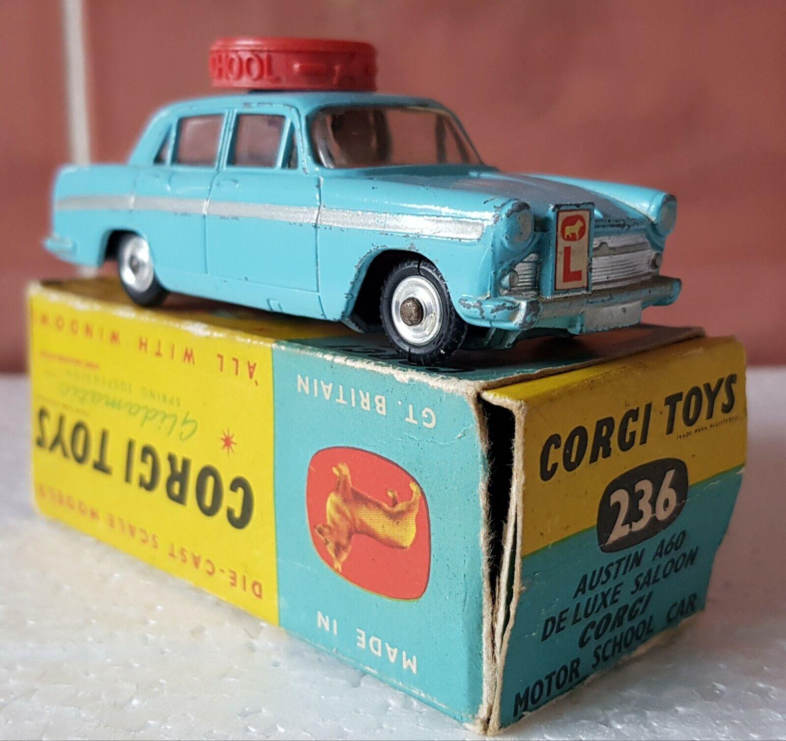 CORGI No.236 AUSTIN A60 DE LUXE SALOON MOTOR SCHOOL CAR BOXED