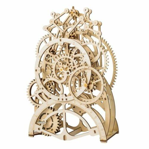 Robotime DIY Wooden Mechanical Pendulum Clock Model Kits 3D Puzzle Toy for Adult