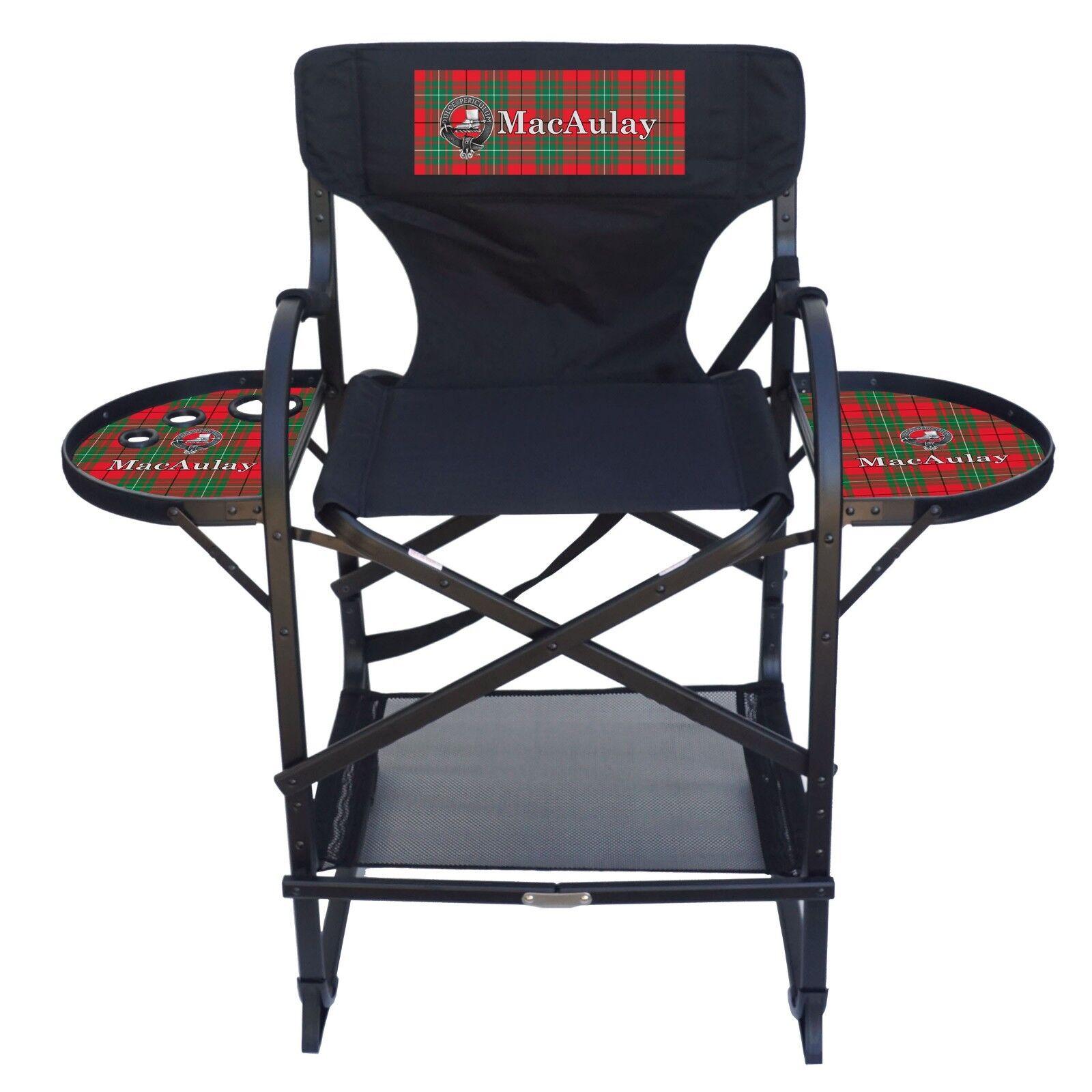 Clan MacAulay Imprinted Tall Counter Height HD Aluminum Frame Folding Chair
